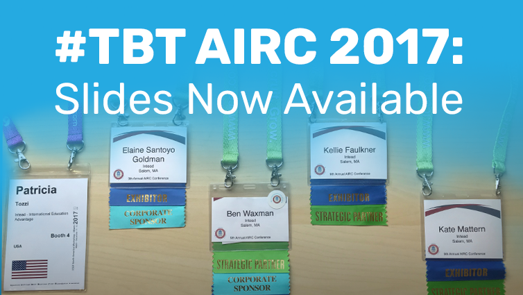 #TBT AIRC 2017: Slides Now Available