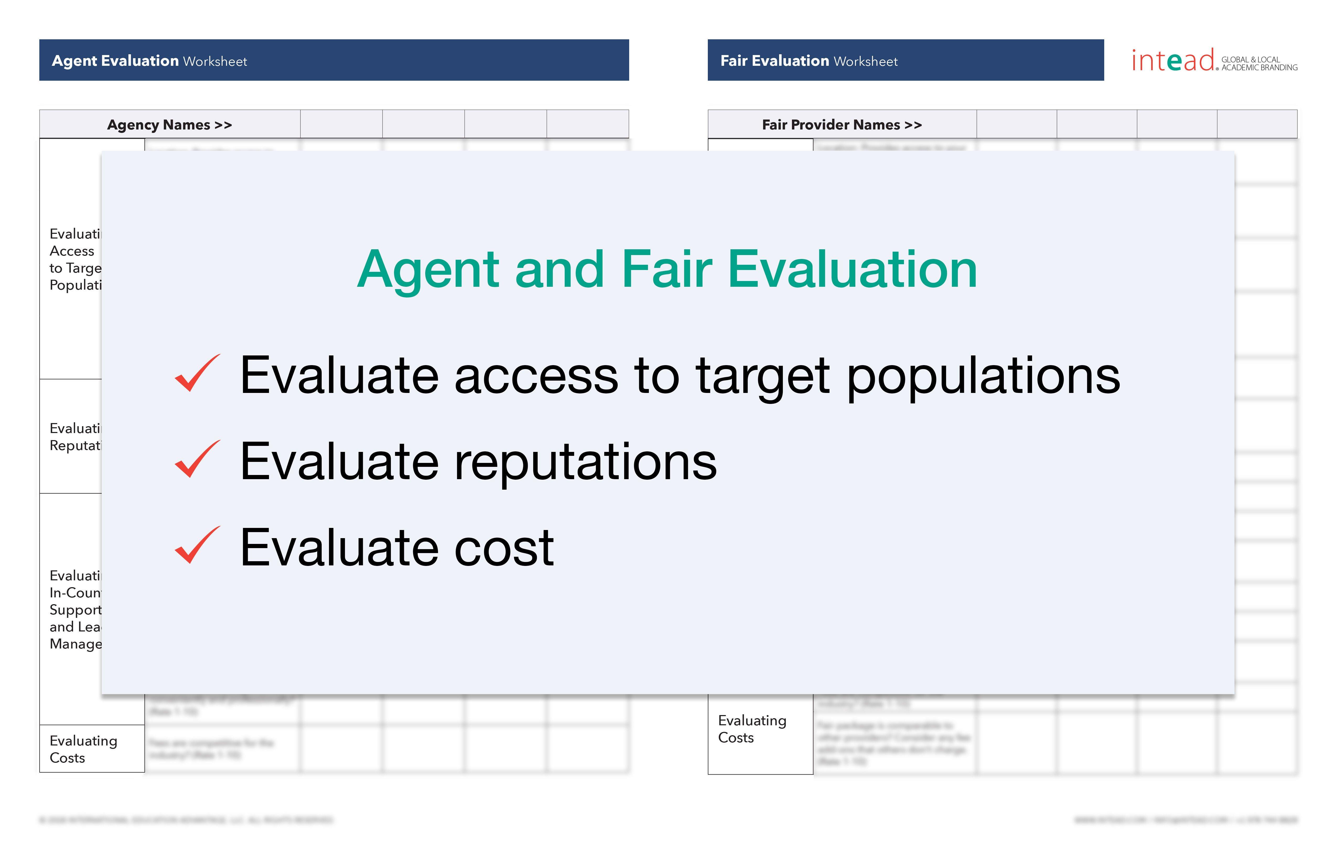 Agent Evaluation Worksheet