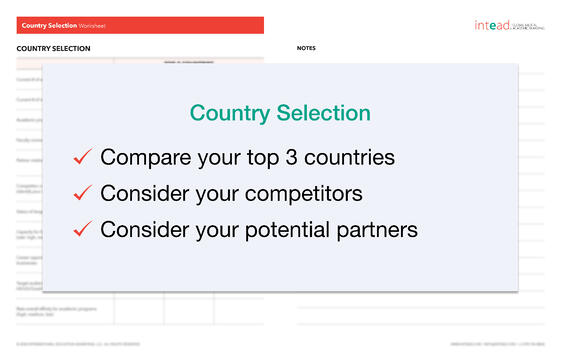 Country Selection Worksheet